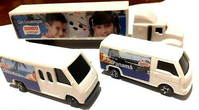 Bimbo Delivery Truck Toys collectible 2009 Mexico Promo SET 3 Pieces