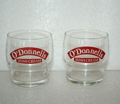 """O'Donnells Irish Cream Stackable Whiskey Liqueur Drinking Glass 3"""" 6 Oz. Vintage"""