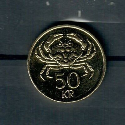 Iceland 50 Kronur Coin Dated 2005..