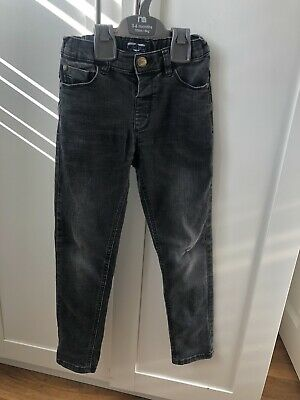 Boys Next Black Wash Skinny Jeans Age 6-7 Years