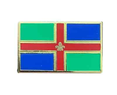 Lincolnshire County Flag Crested Enamel Lapel Pin Badge