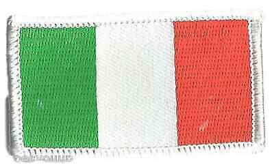 Italy Oblong Crest Flag World Embroidered Patch Badge