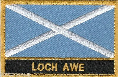 Loch Awe Scotland Town & City Embroidered Sew on Patch Badge