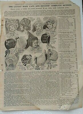 1909-1910 Estate Advertising Pages   BELLAS HESS & CO of New York City, NY