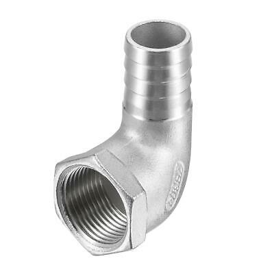 304 Stainless Steel Hose Barb Fitting Elbow 20mm x 3/4 NPT Female Pipe Connector