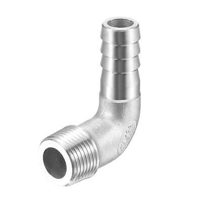 304 Stainless Steel Hose Barb Fitting Elbow 12mm x G3/8 Male Pipe Connector