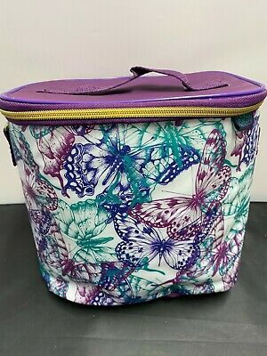 Polar Gear, Purple, Butterfly Design Lined Lunch Bag with Strap   #KW