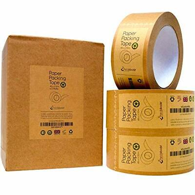 3 Packing Tape by Pandabode™ | Strong, Sticky, Recyclable Brown Paper | Eco