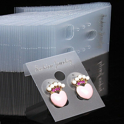 Clear Professional.Type Plastic Earring Ear Studs Holder Display Hang Cards _DC