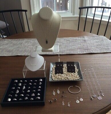 925 Sterling Silver Jewelry LOT! NEW! Ready for Resale! $1300+ Retail Value!