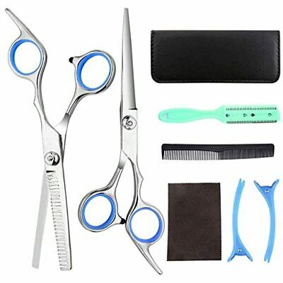 Rainmae Professional Hair Scissors Kit,8PCS Stainless Steel Hair Clipper With Ad