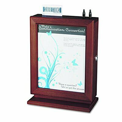 Safco Products 4236MH Customizable Wood Suggestion Box Mahogany