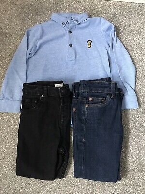 Boys Bundle Next River Island Skinny Jeans X2 Polo Top Age 4