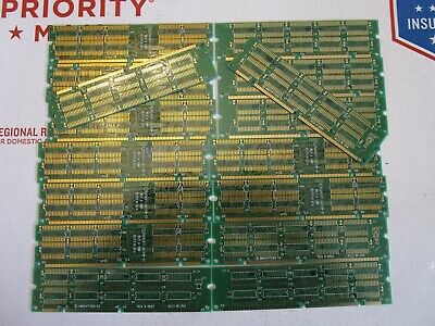6 oz Lot of 16 Unfinshed Computer Ram Memory, For Scrap Gold Recovery