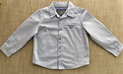 MOTHERCARE Boys Blue Shirt Size Age 2-3 Years Worn Once