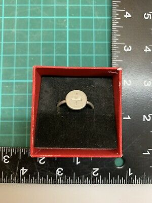 Norman Silver Ring From The Time Of The Crusades 12 Century Repaired Wearable