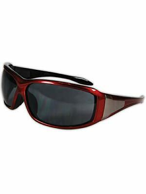 MAGID Anti Fog Safety Glasses with Wraparound Frame - Red Outside Black Insid...