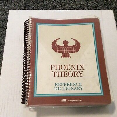 Phoenix Theory Stenography Reference Dictionary Cw Jochim Author