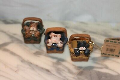 Blossom Bucket set of 3 Cats in Basket