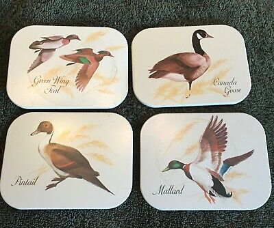 Vintage Duck  Coasters, Set of Four
