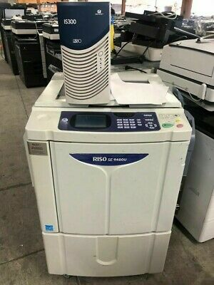 Riso Risograph Se9480 Digital Duplicator 185 Spm 600 Dpi Is300 Postscript Rip