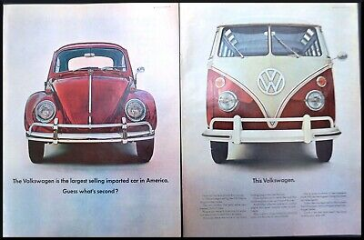 1966 VW Volkswagen Beetle & Bus Ad Largest Selling VW & Second Largest Selling?