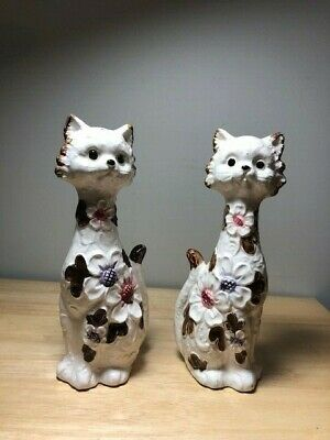 Tall Cat Salt and Pepper Shakers Japanese 1950s