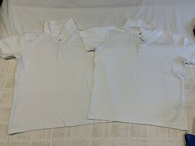 White Polo School Shirts 8-9