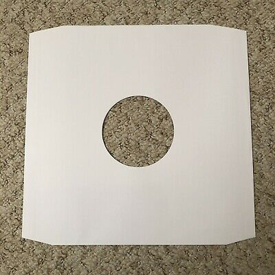 12 Inch White Paper Inner Record Sleeves x 100..