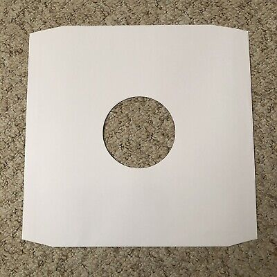 12 Inch White Paper Inner Record Sleeves x 100...