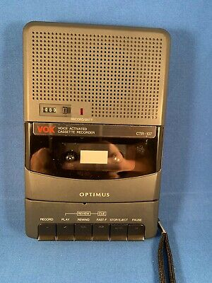 Vox Optimus CTR-107 Radio Shack Voice Activated Cassette Tape Recorder