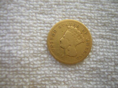 Rare  1855 S  $3.00 Princess Gold Piece  Only 6;600  Minted