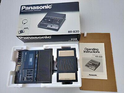 Panasonic RR830 Standard Cassette Transcriber Recorder Foot Pedal In Box