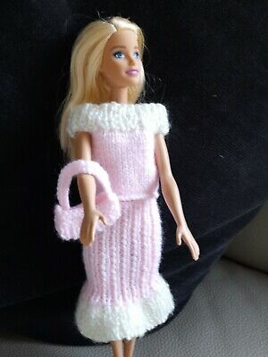 Barbie Pink Hand Knitted Outfit