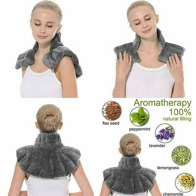 Aroma Season Heated Neck Warmer for Pain Microwave and Shoulder Grey
