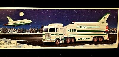 1999 HESS TRUCK & SPACE SHUTTLE (lights and sound) W/SATELLITE Brand New in Box