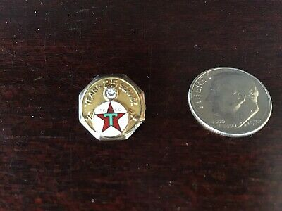 Vintage Texaco 25 Years of Service Pin 14k