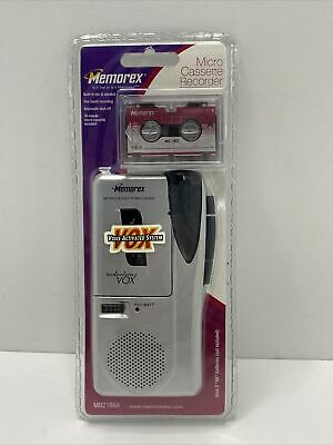 Memorex Handheld Compact Micro Cassette Tape Voice Recorder MB2186A NEW Sealed