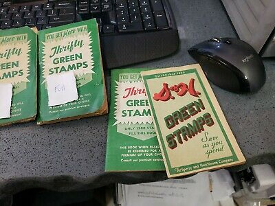 Thrifty Green Stamps Book - Almost Full! Free Shipping