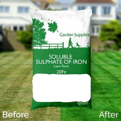 free GLOVES 25KG  SULPHATE OF IRON LAWN GARDEN  MOSS KILLER FOR LAWN