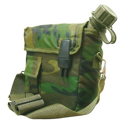 Water Insulated Army Military US Canteen and Cover with Shoulder Strap Camo