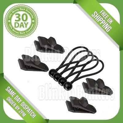 10x Tent Clip Heavy Duty Awning Clamp Tarpaulin Strap Bungee for Camping #w