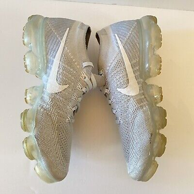 NIKE Air VAPORMAX FLYKNIT Pure Platinum White Wolf Mens 7.5 849558-004