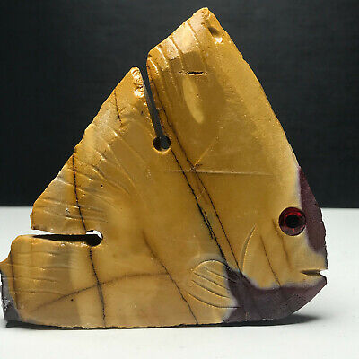 Carved Fish in Natural Mookite