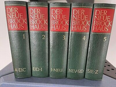 The new Brockhaus.  Lexicon and dictionary in five (5) volumes or atlas.  5th ed.
