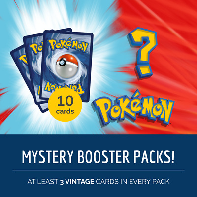 Guaranteed Holo//Reverse//Vintage Mystery Pokemon Booster Packs 10 Cards
