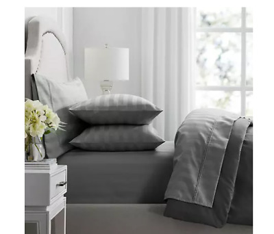 Hotel Premier Col Fossil Thick Stripe 650 Thread Count Egyptian Cotton 6 Piece