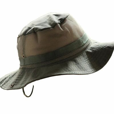Mens Boonie Bucket Hat Cap Cotton Wide Brim Outdoor Fishing Military Hunting HQ