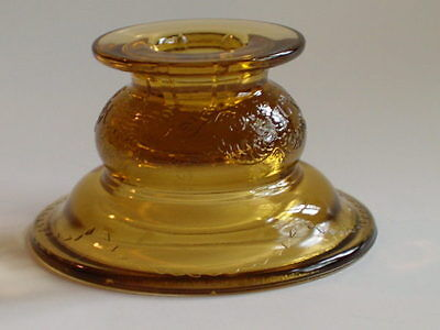 Indiana Glass Madrid Recollection Candleholder Amber