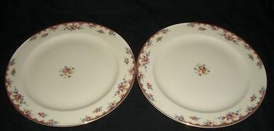 RED&BLUE FLOWERS,RED/TAN KNO382 KNOWLES Dessert Plates